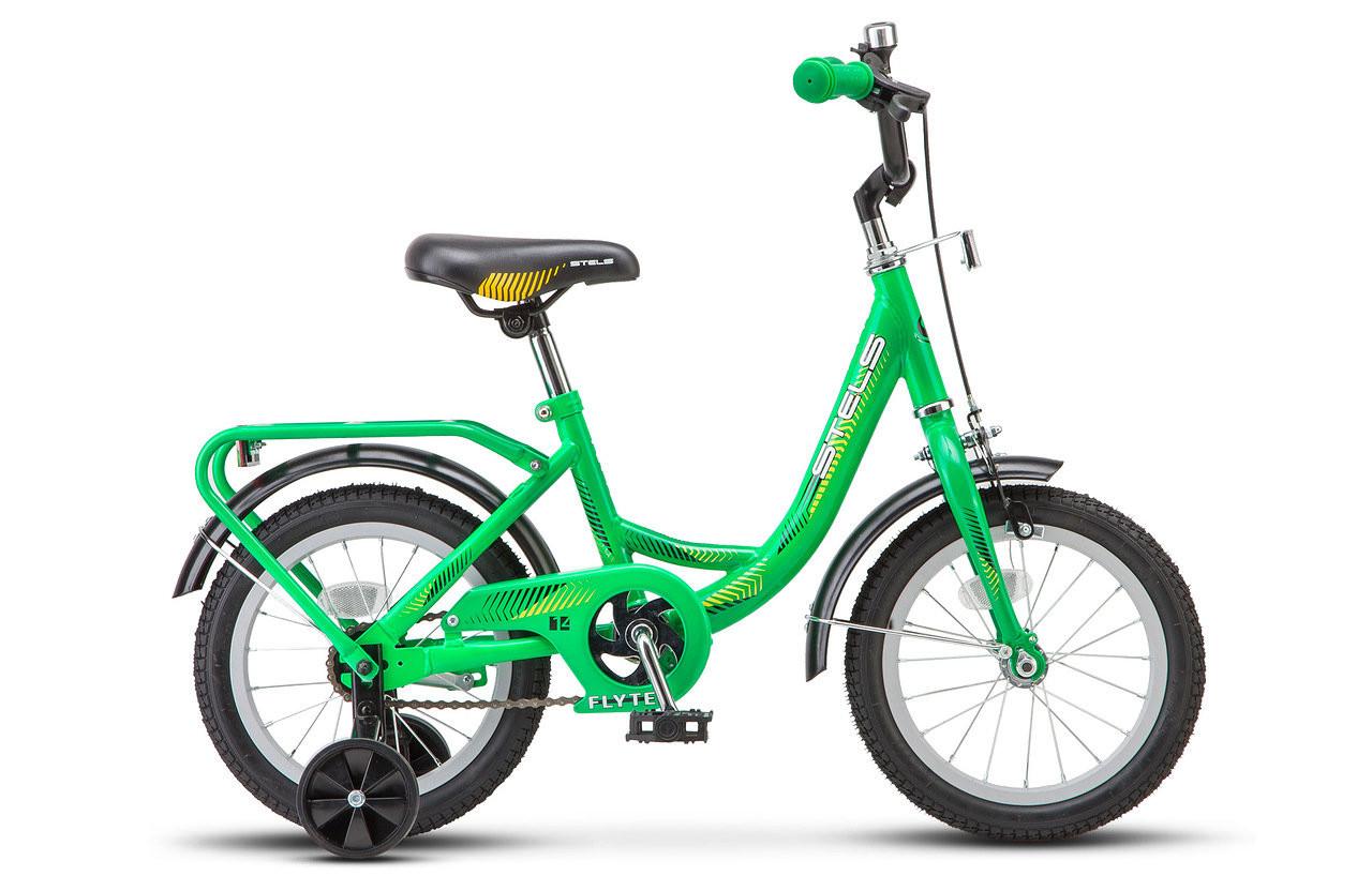 "Детский велосипед Stels Flyte 2018 Z010 14"" зеленый"