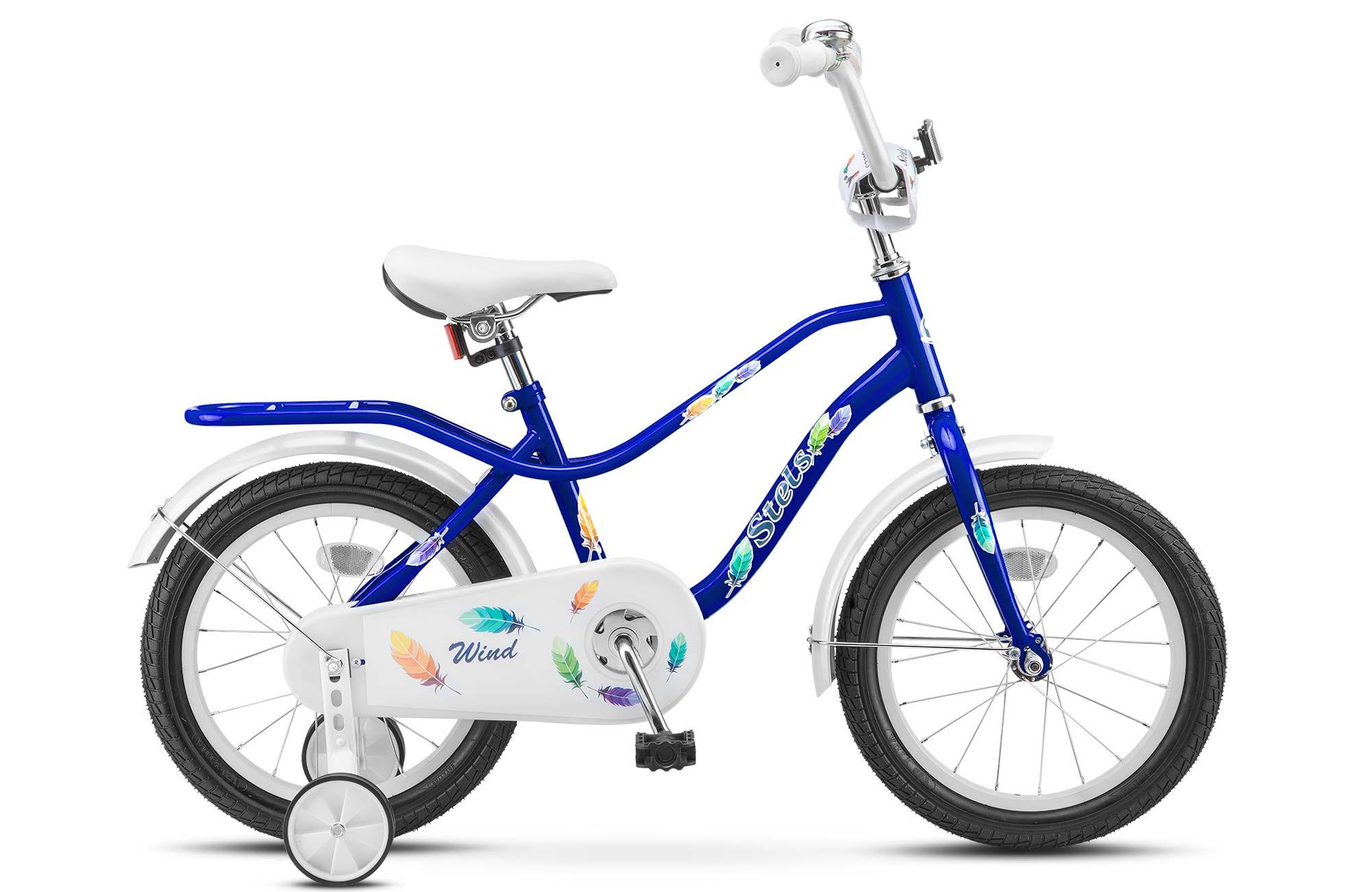 """Детский велосипед Stels Wind 2017 Z010 14"""" синий"""