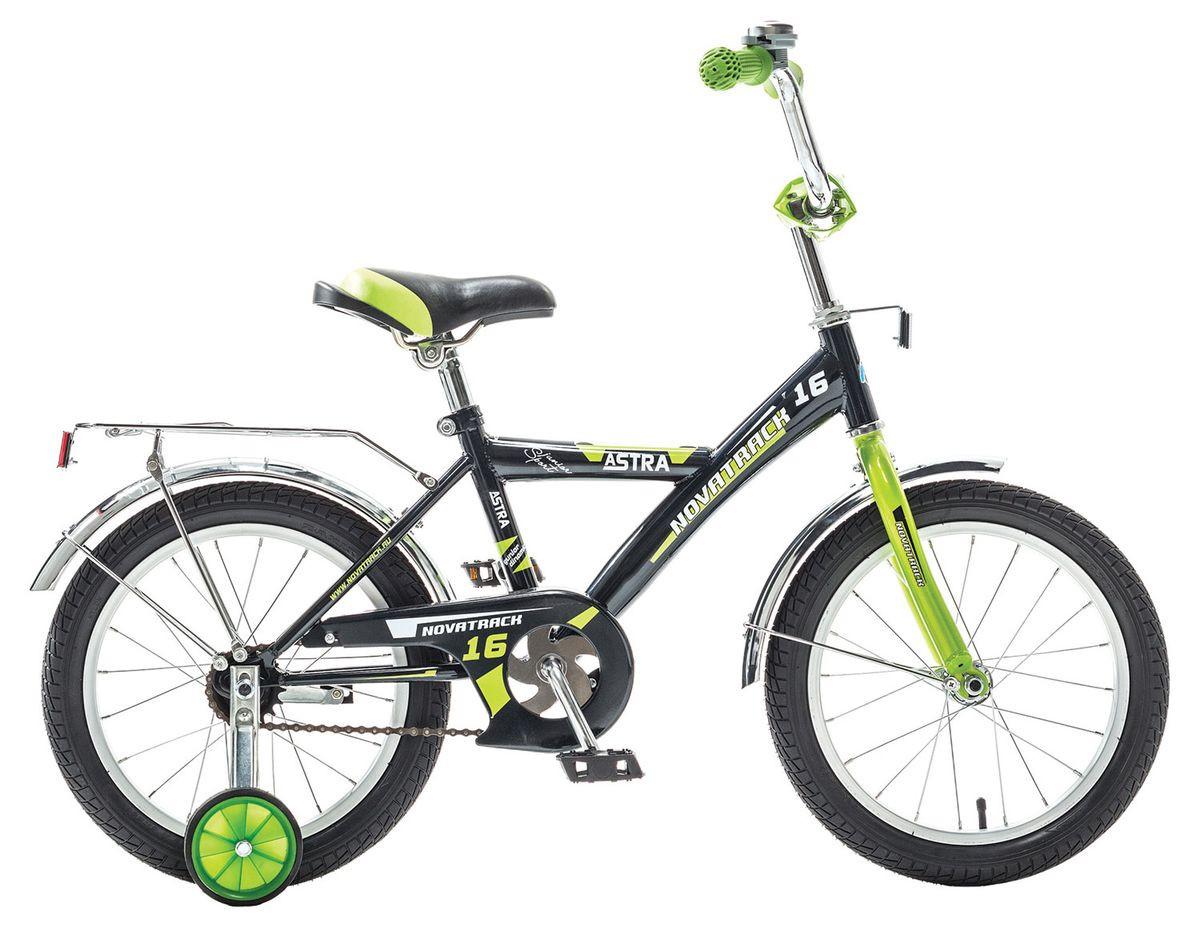 """Детский велосипед Novatrack Astra 2015 16"""" черный"""