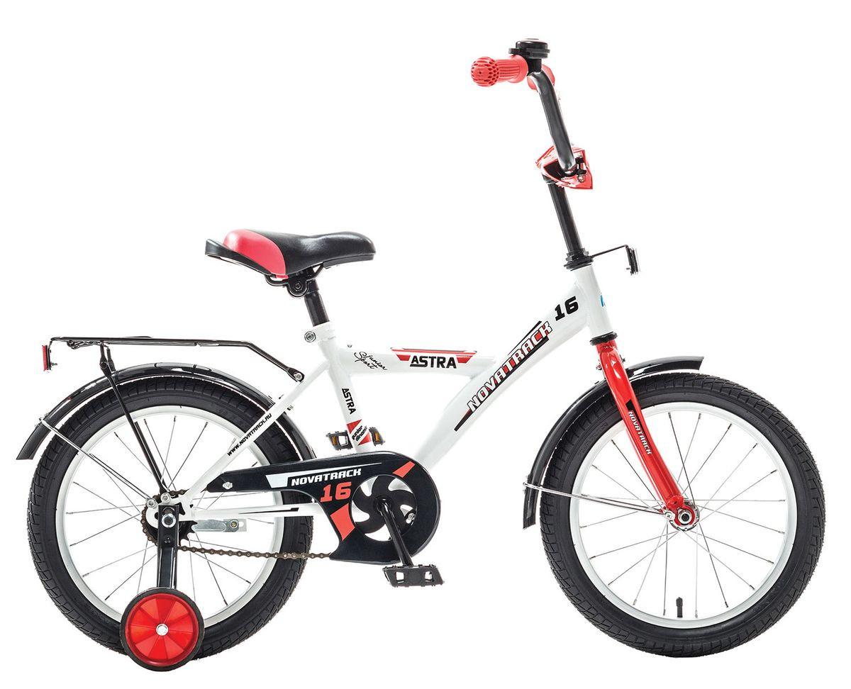 """Детский велосипед Novatrack Astra 2015 16"""" белый/красный"""