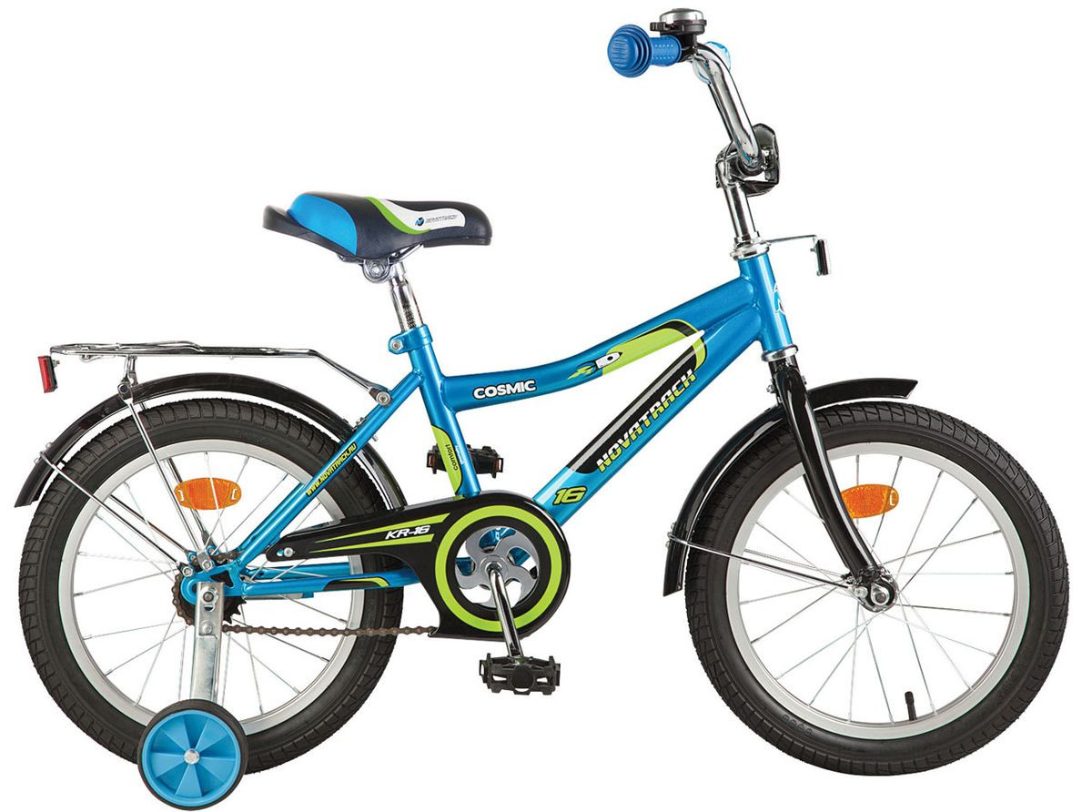 """Детский велосипед Novatrack Cosmic 16"""" синий"""