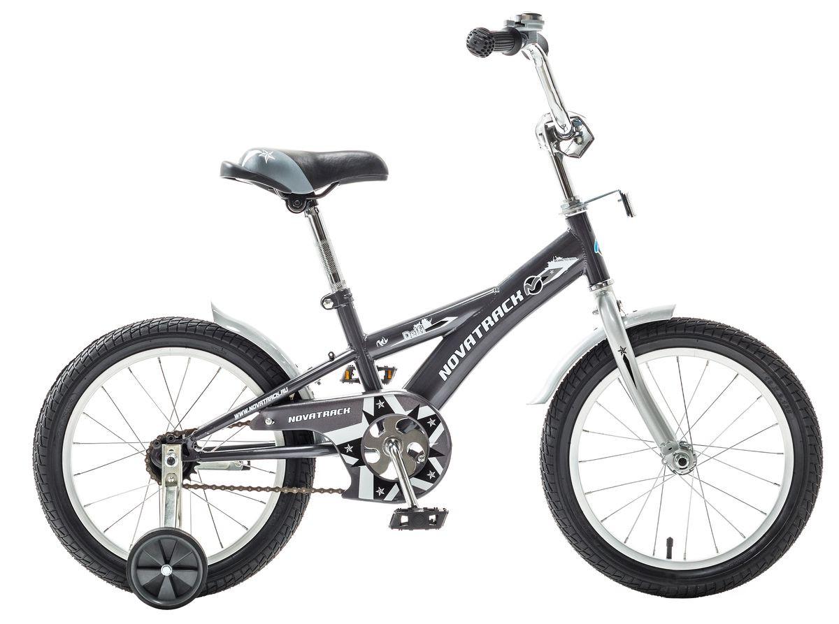 """Детский велосипед Novatrack Delfi 16"""" серый"""