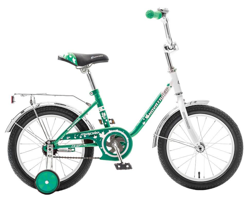 """Детский велосипед Novatrack Maple 2017 16"""" зеленый"""