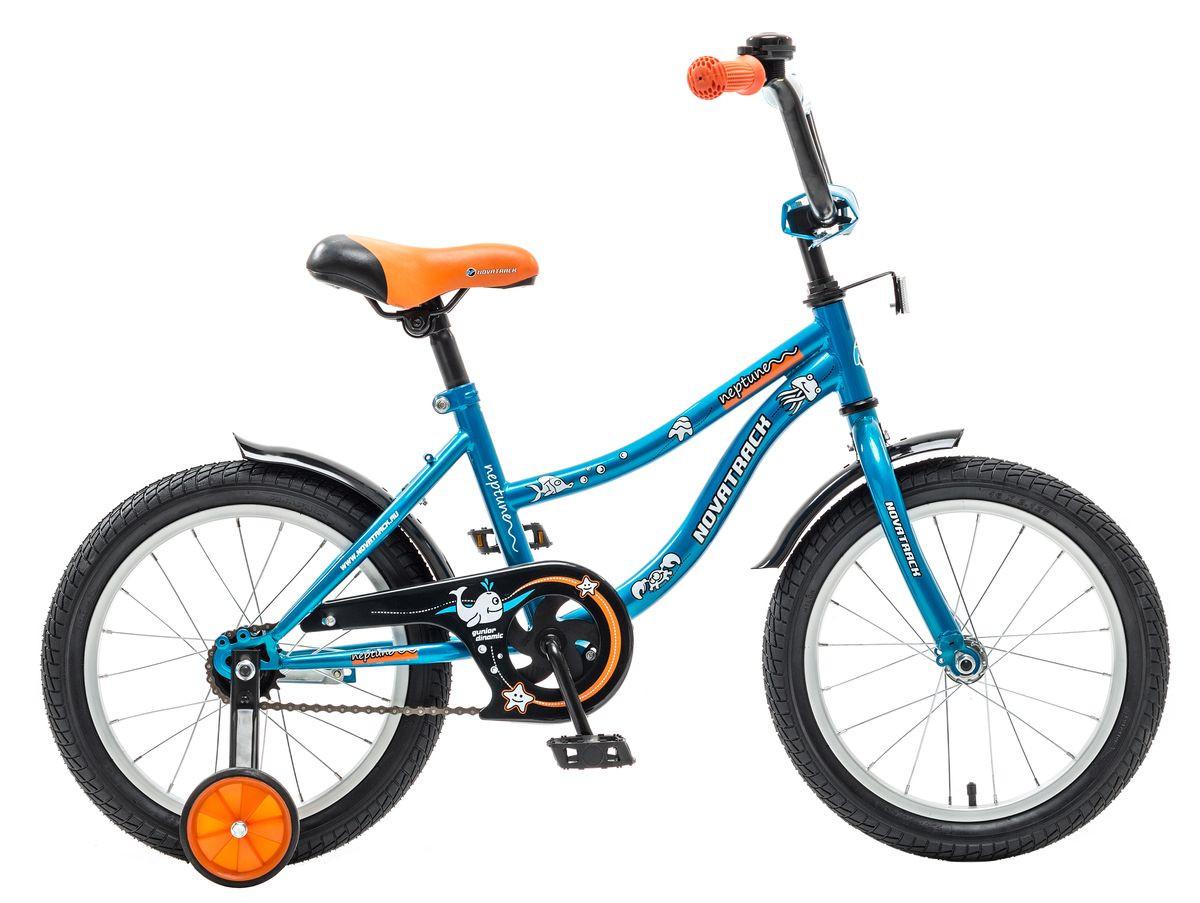 """Детский велосипед Novatrack Neptun 16"""" синий"""