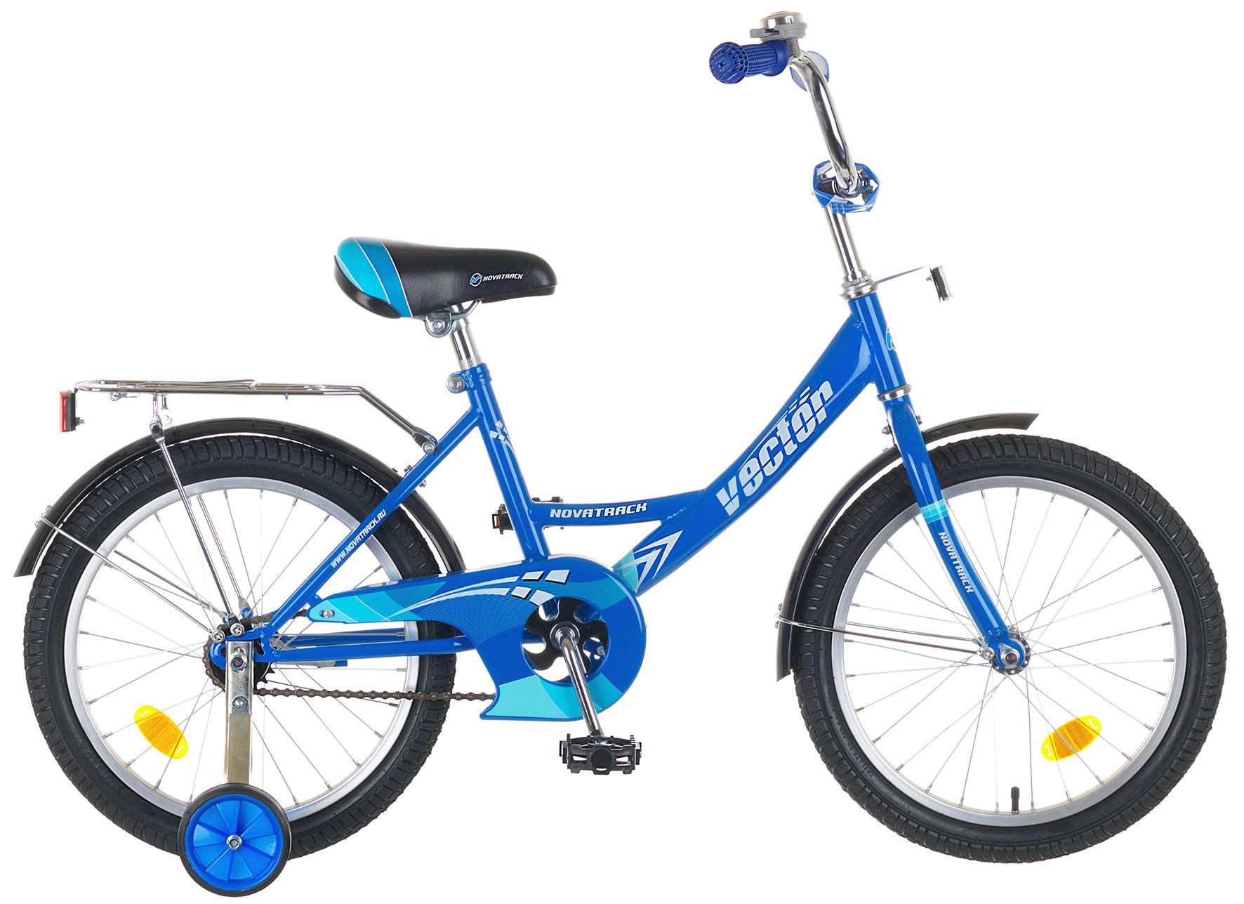 """Детский велосипед Novatrack Vector 16"""" синий"""