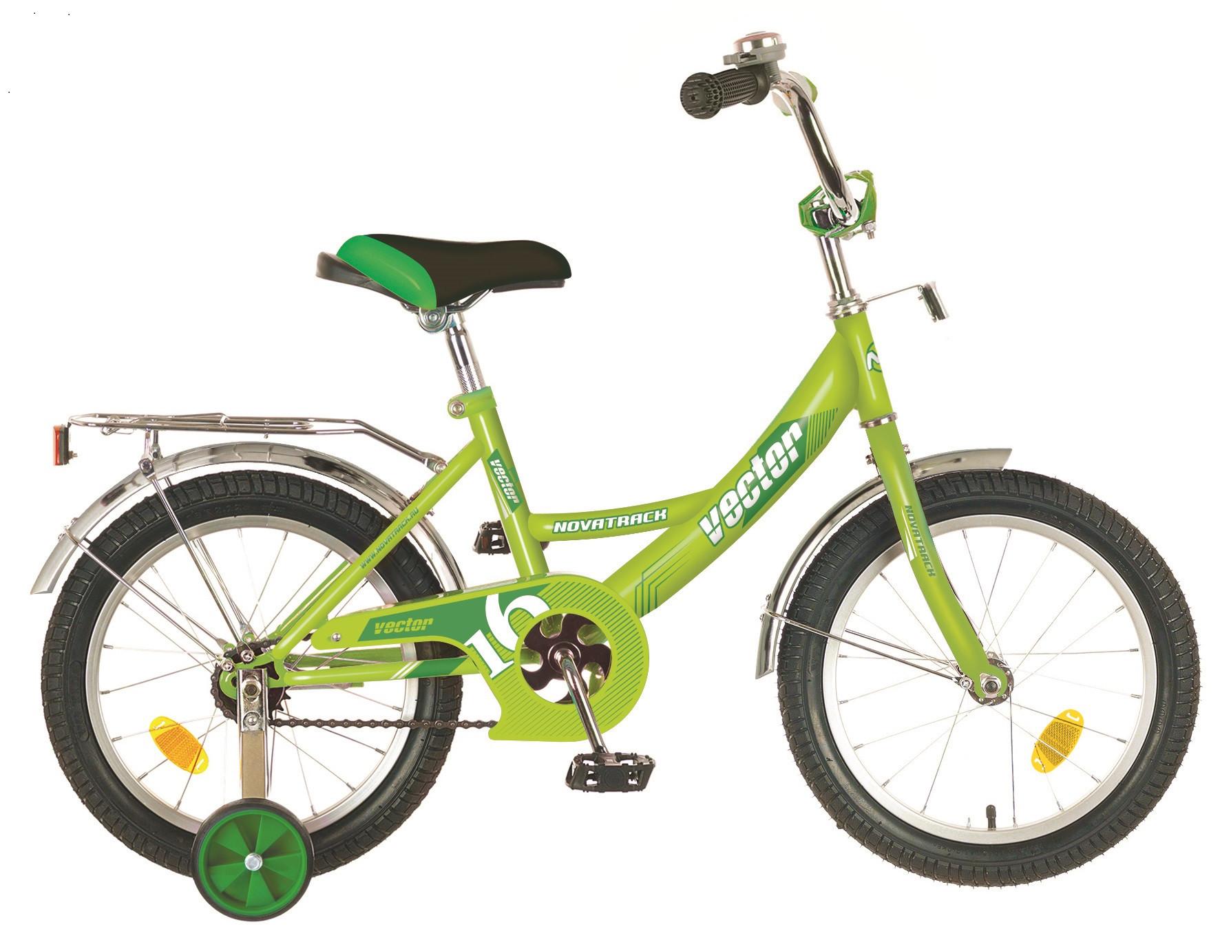 """Детский велосипед Novatrack Vector 2018 16"""" зеленый"""