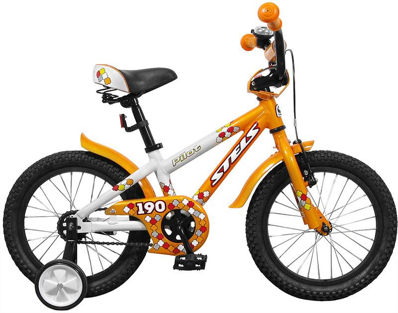 """Детский велосипед Stels Pilot-190 2017 V020 16"""" белый/оранжевый"""