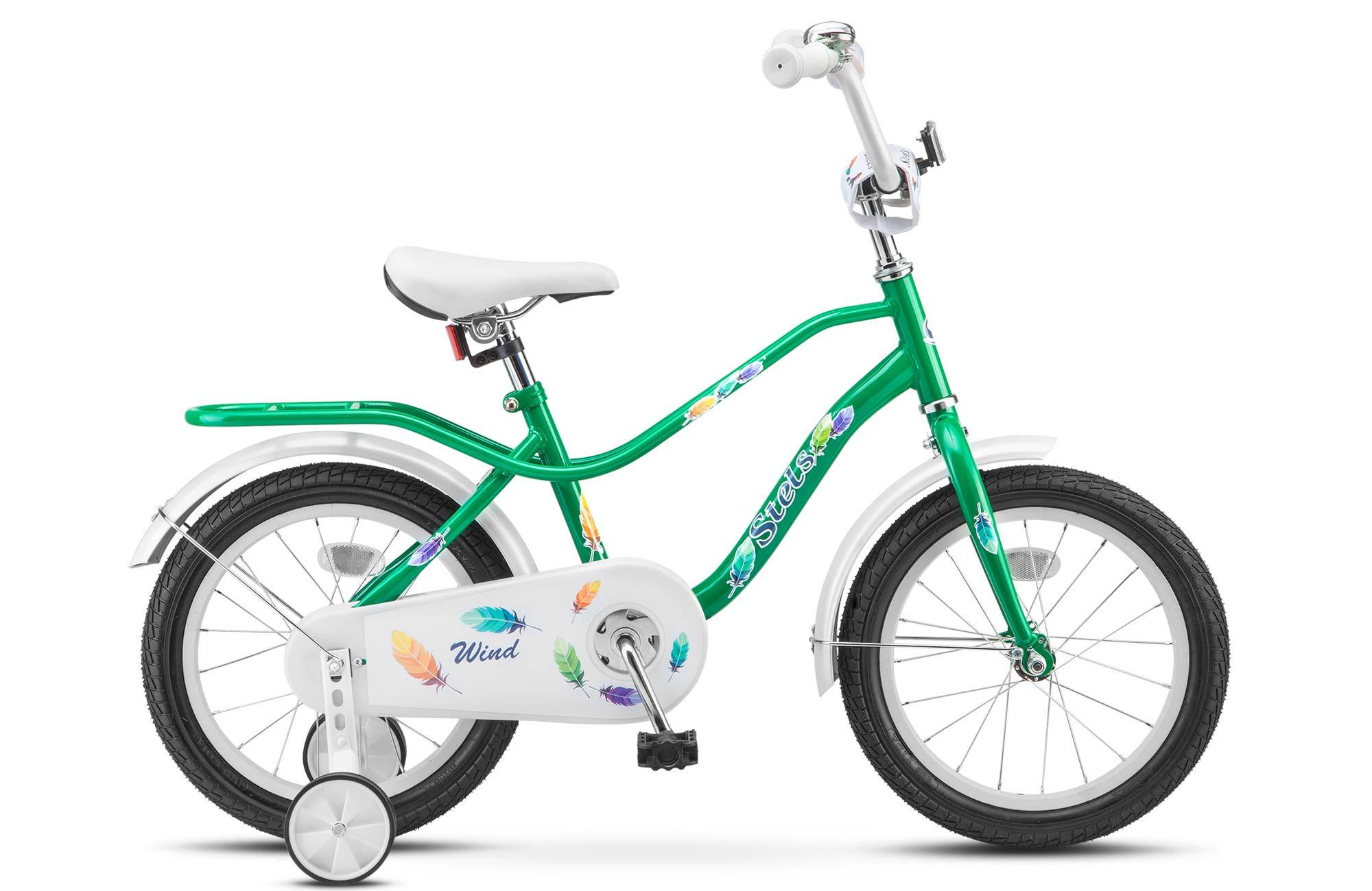 "Детский велосипед Stels Wind 2017 Z010 16"" зеленый"