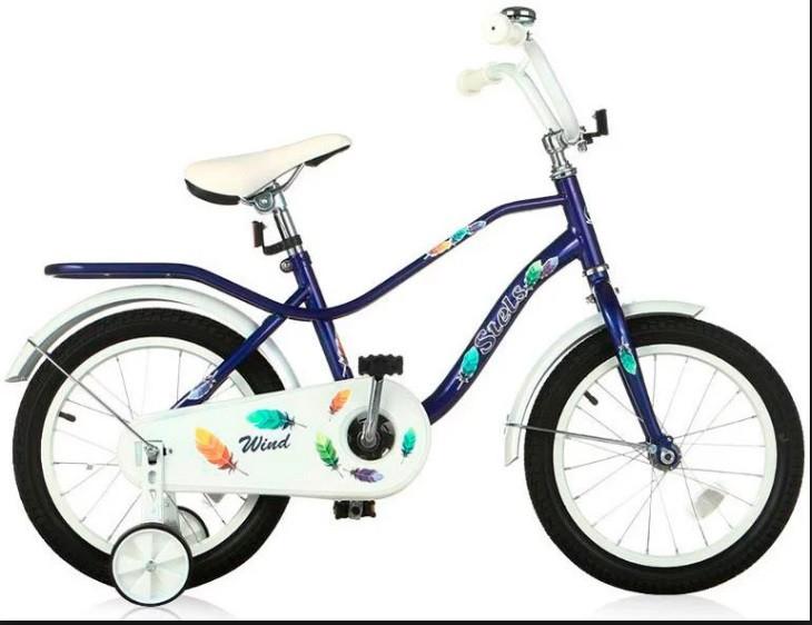 """Детский велосипед Stels Wind 2017 Z010 16"""" темно-синий"""