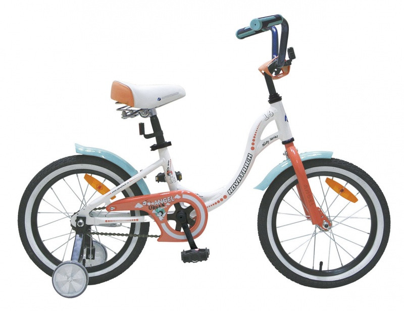 """Детский велосипед Novatrack Angel 16"""" белый"""