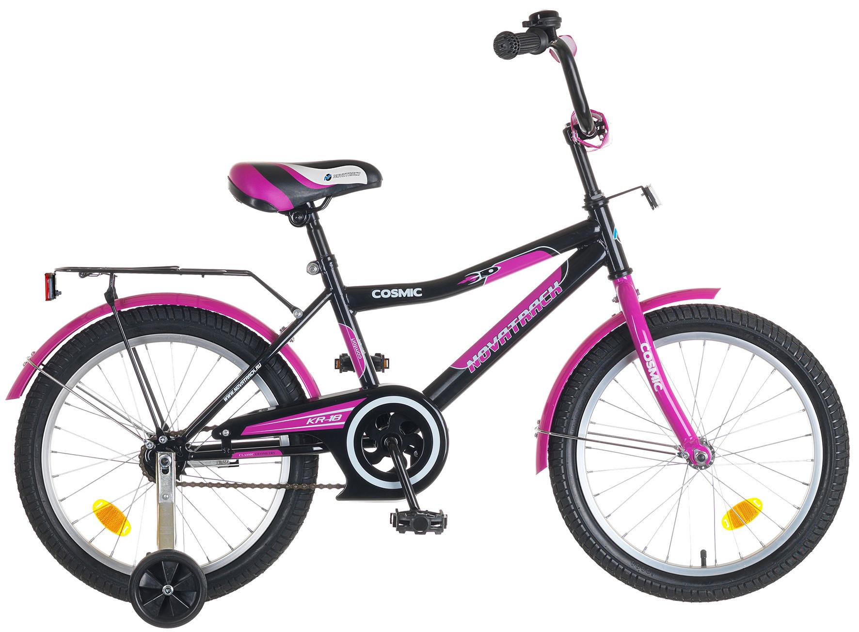 """Детский велосипед Novatrack Cosmic 18"""" черный"""