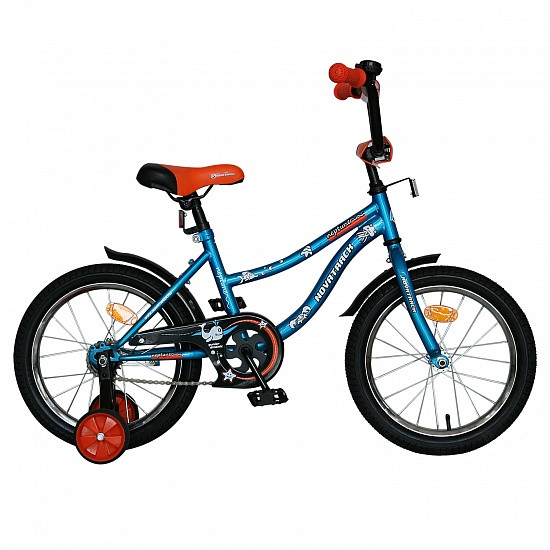 """Детский велосипед Novatrack Neptun 2015 18"""" синий"""