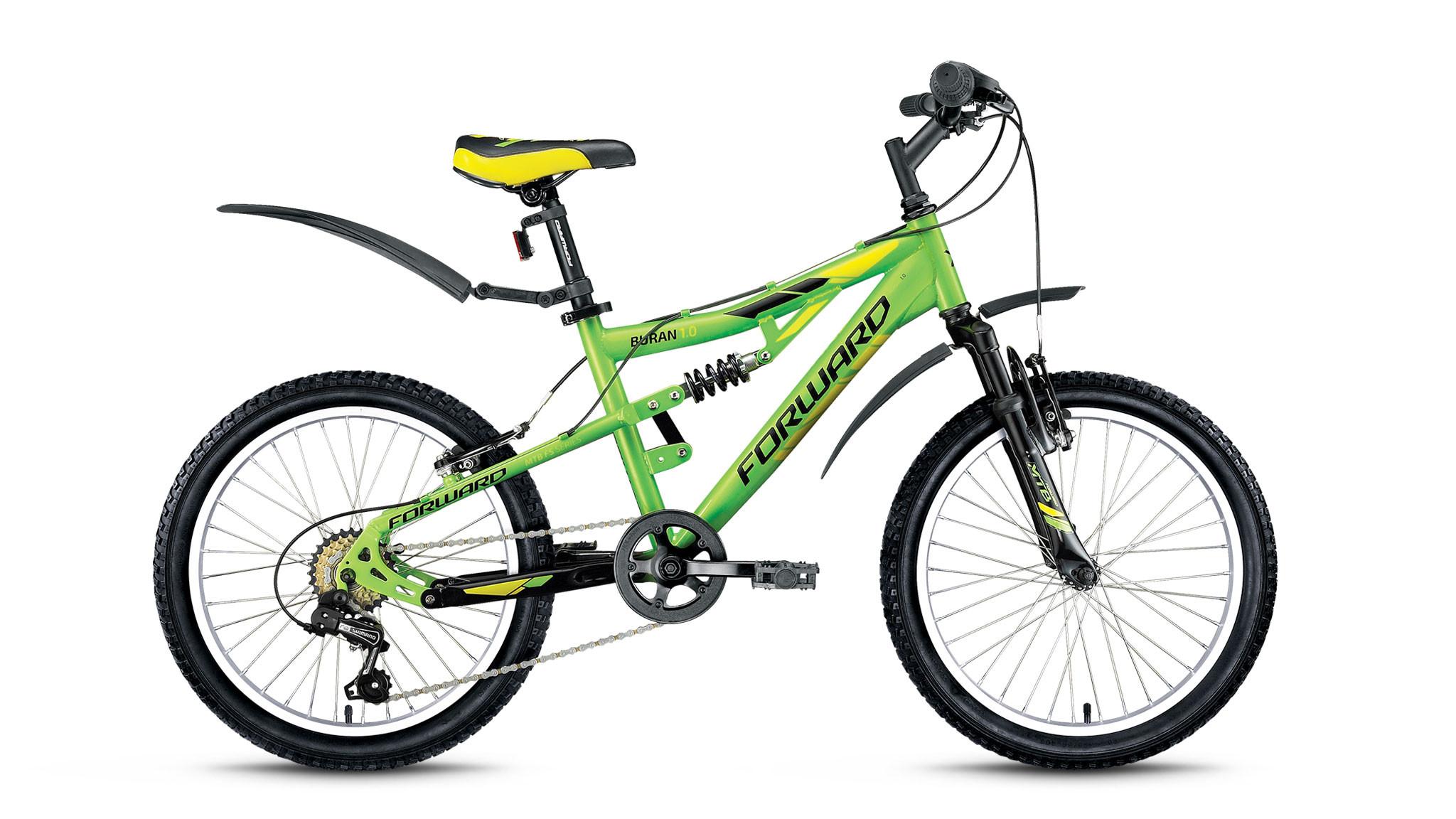 Детский велосипед Forward Buran 1.0 2017 зеленый/черный