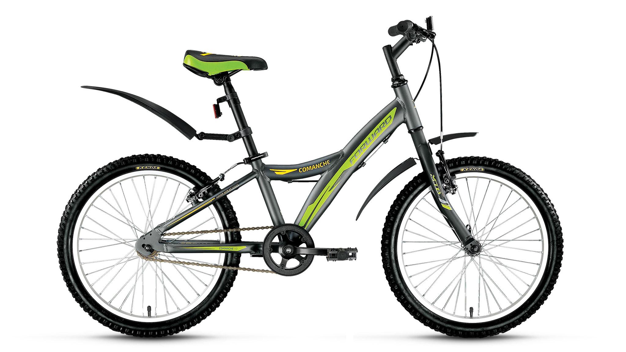 Детский велосипед Forward Comanche 1.0 2018 серый матовый