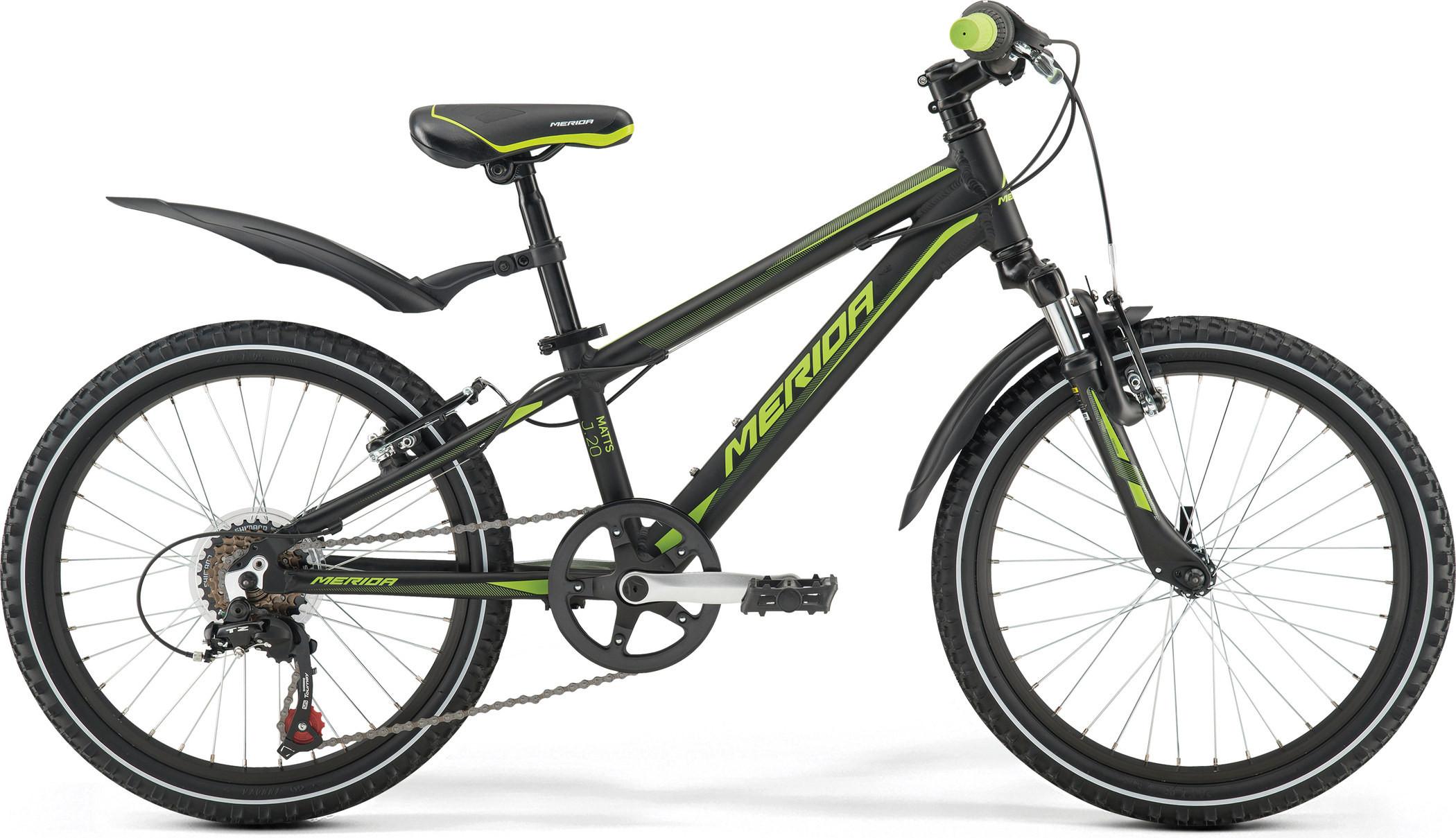 Детский велосипед Merida Matts J20 boy 2017 black/green