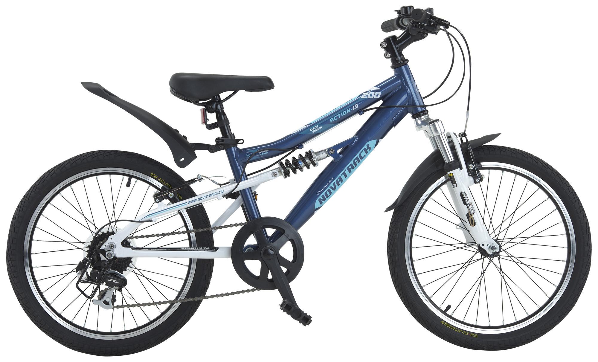 """Детский велосипед Novatrack Action-JS200 2015 20"""" синий"""