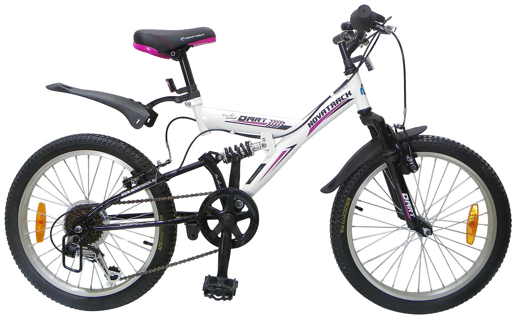 """Детский велосипед Novatrack Dart 2015 20"""" черный/белый"""