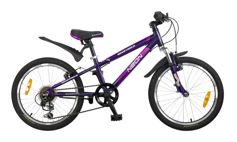 """Детский велосипед Novatrack Neon 2015 20"""" фиолетовый"""