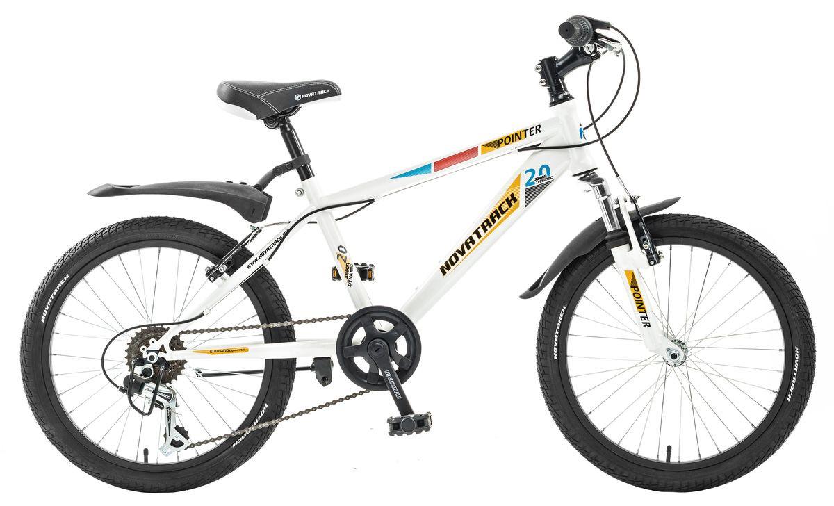 """Детский велосипед Novatrack Pointer 2017 20"""" белый"""