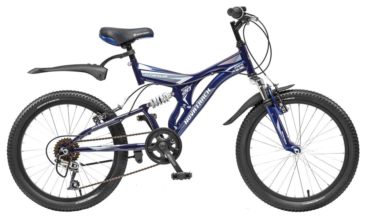 """Детский велосипед Novatrack Titanium 2015 20"""" синий"""