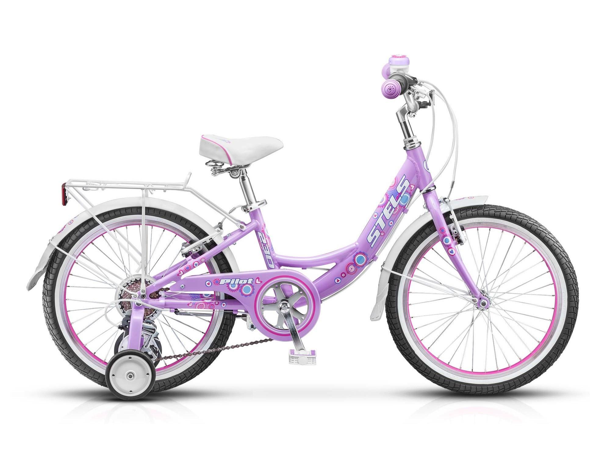 Детский велосипед Stels Pilot-230 Lady 2016 пурпурный/белый/розовый