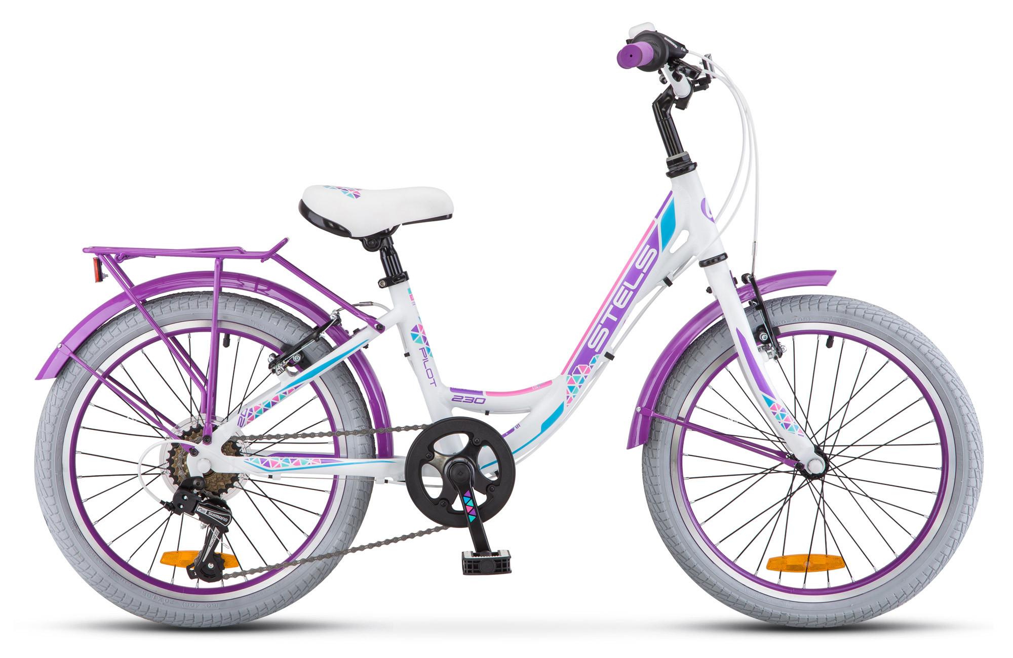 Детский велосипед Stels Pilot-230 Lady 2018 V010 белый