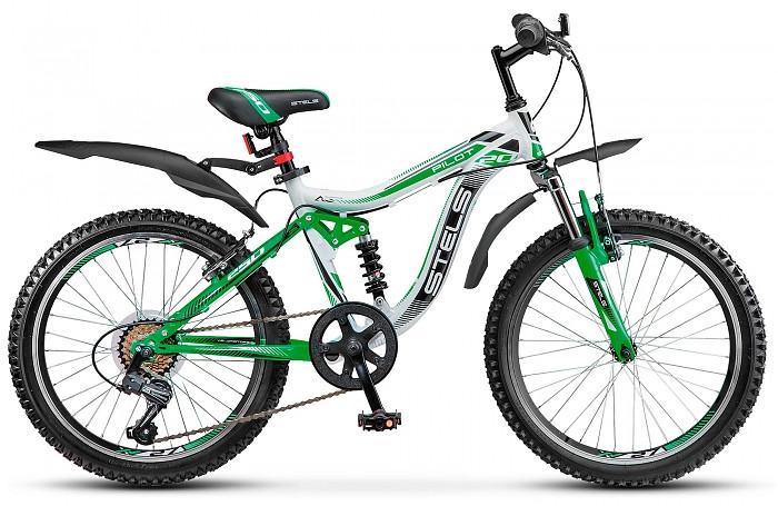 Детский велосипед Stels Pilot-250 2017 белый/зеленый