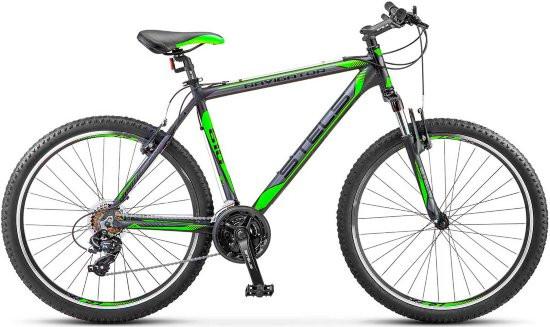 "Горный велосипед Stels Navigator-610V 2017 V030 рама 19"" черный/салатовый"