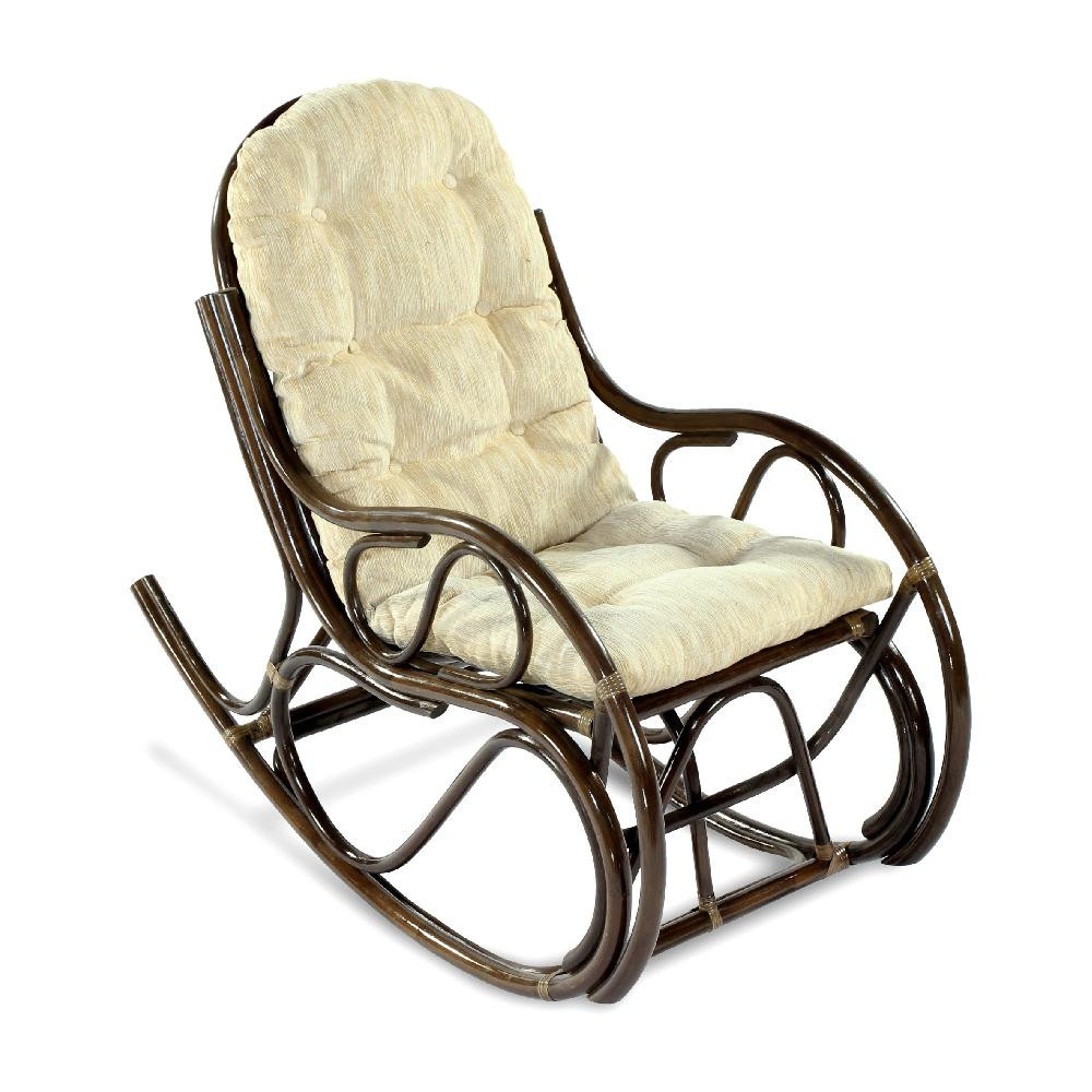 Кресло-качалка из ротанга Экодизайн 05/04 браун
