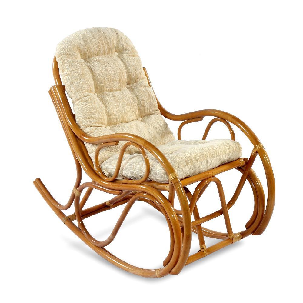 Кресло-качалка из ротанга Экодизайн 05/04 коньяк