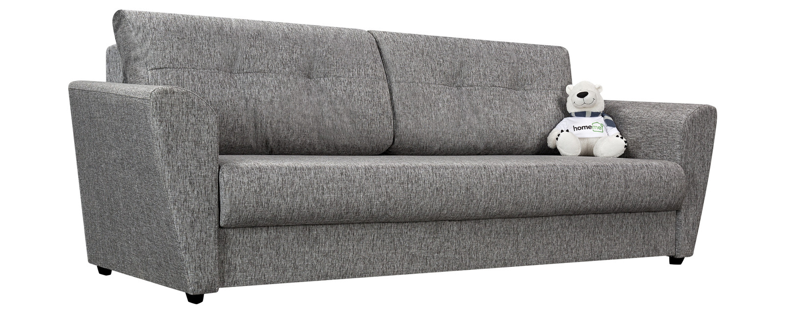 Диван прямой HomeMe Амстердам тканевый (Ткань: Madagascar серый, Рогожка)