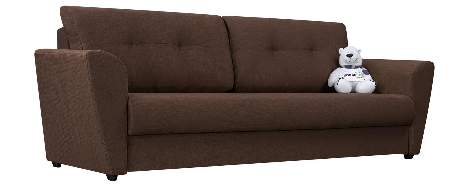 Диван прямой HomeMe Амстердам тканевый (Ткань: Madagascar коричневый, Рогожка)