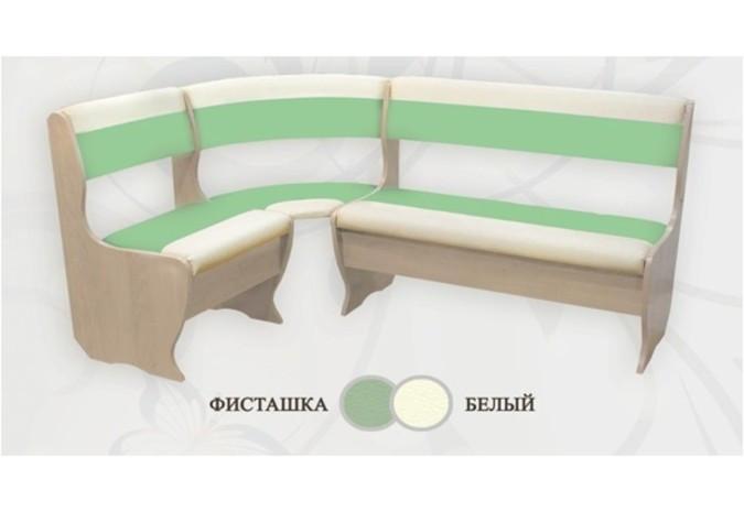 Кухонный уголок Сибирский Двор Бриз Дуб / Фисташка / Белый