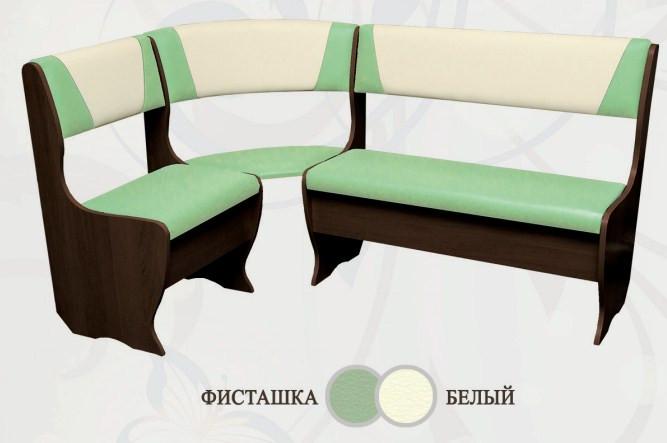 Кухонный уголок Сибирский Двор Бриз Классик Венге / Фисташка / Белый