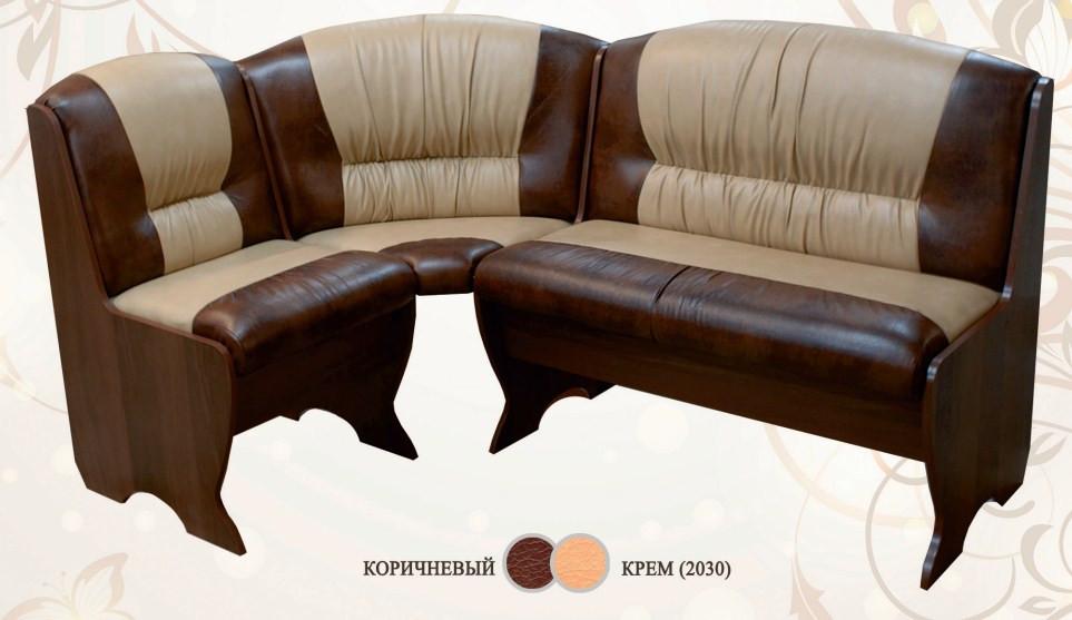 Кухонный уголок Сибирский Двор Торрес Орех / Коричневый / Крем