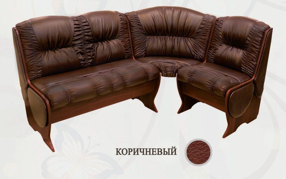 Кухонный уголок Сибирский Двор Калипсо Люкс Орех / Коричневый