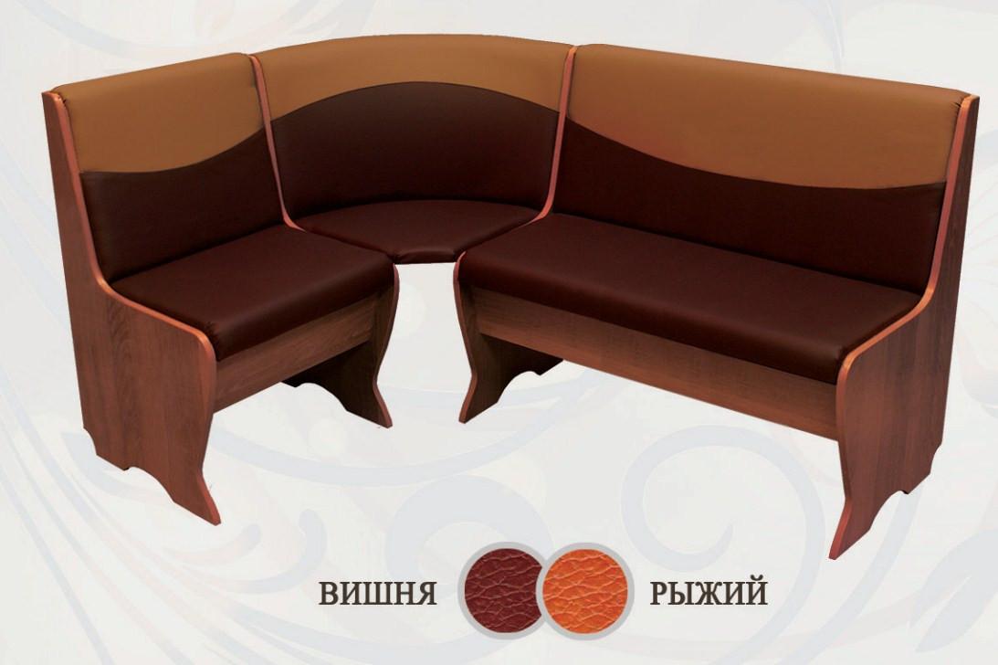 Кухонный уголок Сибирский Двор Ларго Орех / Вишня / Рыжий