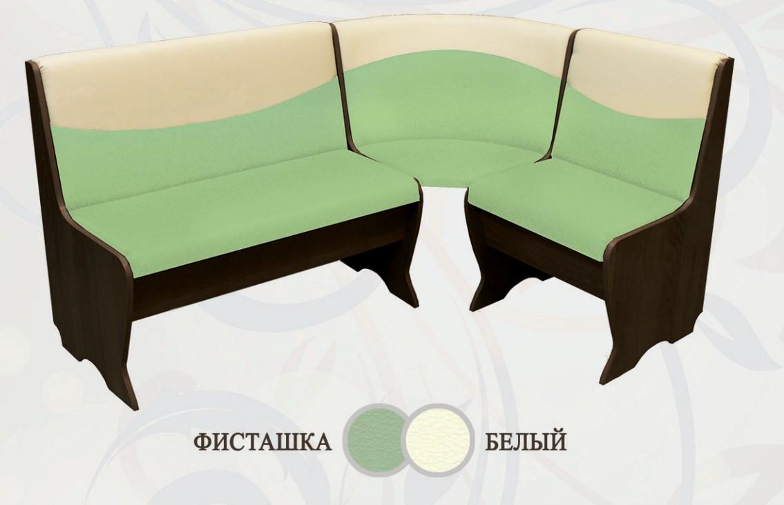 Кухонный уголок Сибирский Двор Ларго Венге / Фисташка / Белый