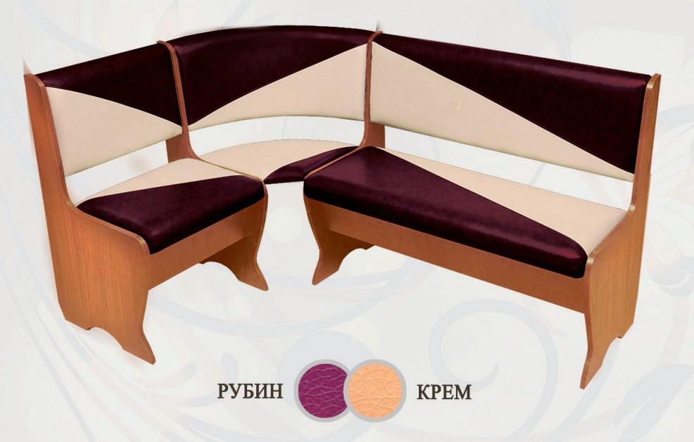 Кухонный уголок Сибирский Двор Фиджи Ольха / Рубин / Крем
