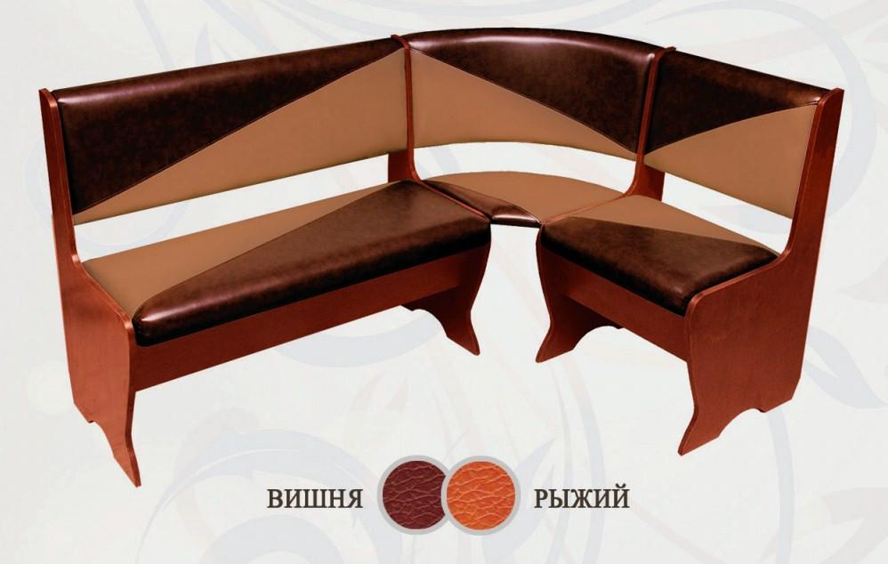 Кухонный уголок Сибирский Двор Фиджи Орех / Вишня / Рыжий