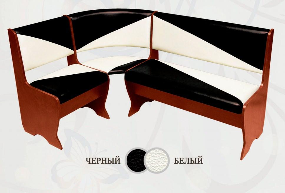Кухонный уголок Сибирский Двор Фиджи Орех / Черный / Белый