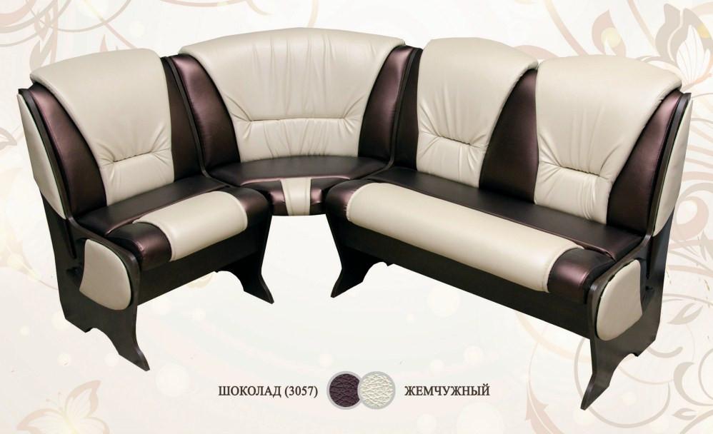 Кухонный уголок Сибирский Двор Барокко Венге / Шоколад / Жемчужный