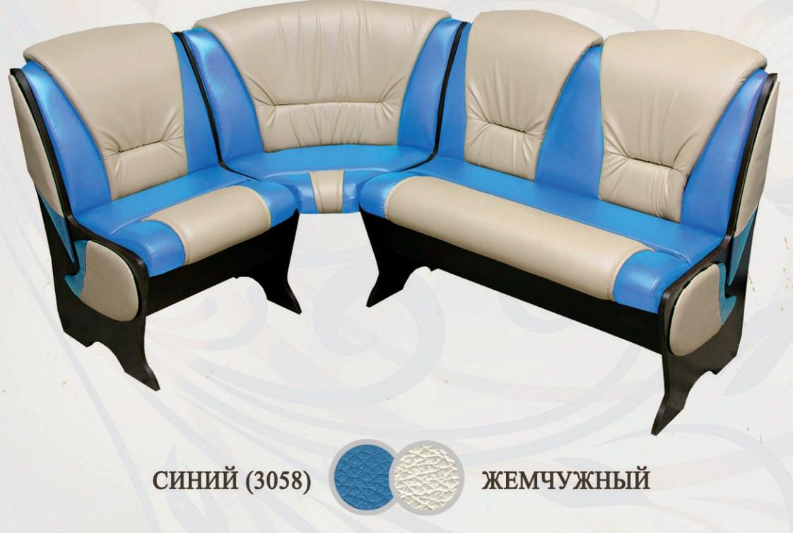 Кухонный уголок Сибирский Двор Барокко Венге / Синий / Жемчужный