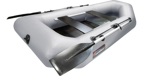 Надувная гребная лодка Хантер 250 МЛ Серая