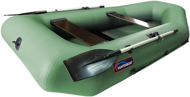 Надувная гребная лодка Хантер 280 Р Зеленая