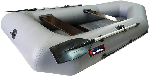 Надувная гребная лодка Хантер 280 Р Серая