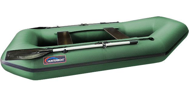 Надувная гребная лодка Хантер 280 Л Зеленая