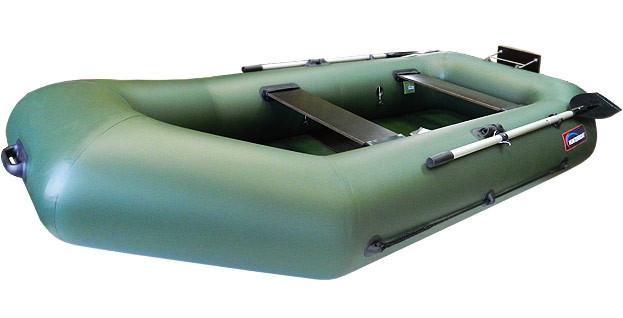 Надувная моторно-гребная лодка Хантер 280 РТ Зеленая
