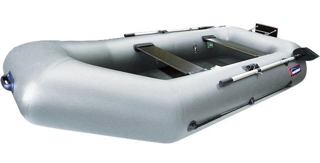Надувная моторно-гребная лодка Хантер 280 РТ Серая