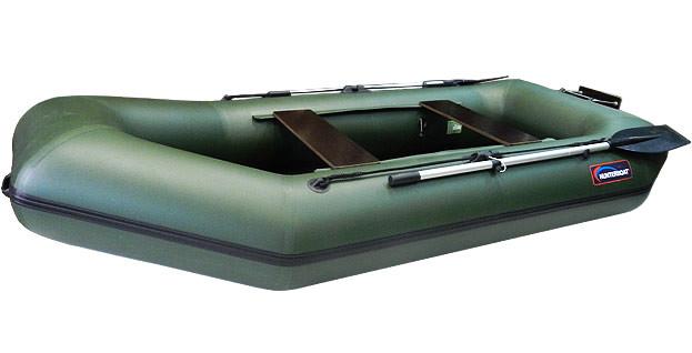 Надувная моторно-гребная лодка Хантер 280 ЛТ Зеленая